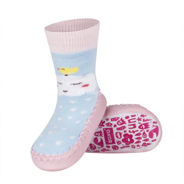 Detské ponožkové papuče 98497A cbb76ecd245