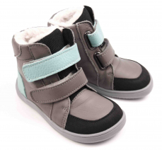 Baby Bare Shoes Febo Winter Grey/tyrkys Asfaltico