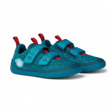 Affenzahn Lowcut Knit Shark Blue Red