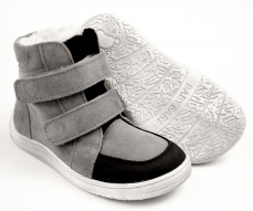 Baby Bare Shoes Febo Winter Grey velur Asfaltico