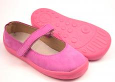 86ba7251a7be8 Beda Boty kožené balerínky růžové