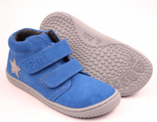 Filii barefoot - Chameleon velours el.blue fleece M